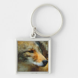 Wild Coyote Photo Painting Keychain