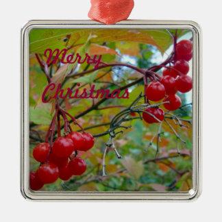 Wild Cranberries Metal Ornament