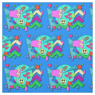Wild Crazy 90s Pattern Fabric