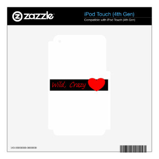 Wild crazy Love Decal For iPod Touch 4G