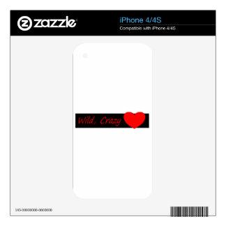 Wild crazy Love iPhone 4 Skin
