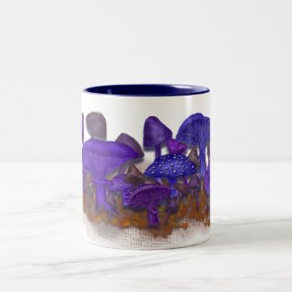 Wild & Crazy Mushrooms Two-Tone Coffee Mug