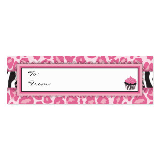 Wild Cupcake CP Skinny Gift Tag 2 Business Card Templates