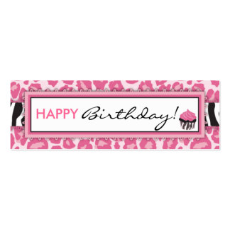 Wild Cupcake CP Skinny Gift Tag Double-Sided Mini Business Cards (Pack Of 20)