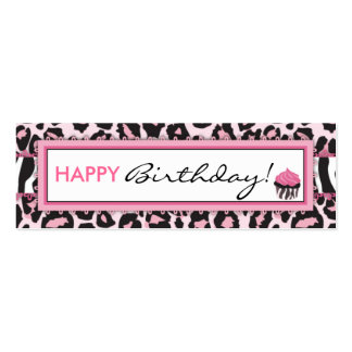 Wild Cupcake WP Skinny Gift Tag Double-Sided Mini Business Cards (Pack Of 20)
