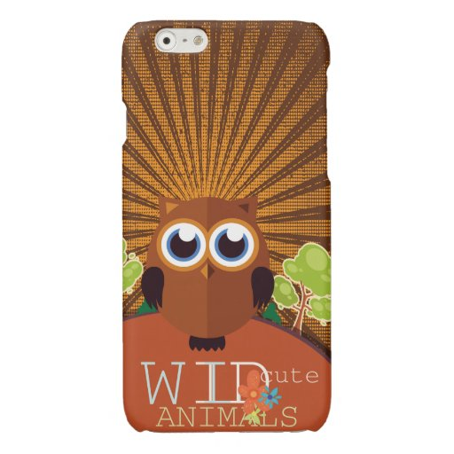 Wild Cute Animals - Owl Glossy iPhone 6 Case