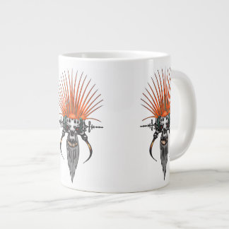 Wild Cyber Skull With Tusks Giant Coffee Mug