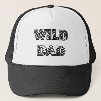 """""""WILD DAD"""" Zebra Stripes Design (Horizontal) Trucker Hat"""