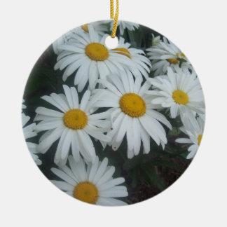Wild Daisies Ceramic Ornament