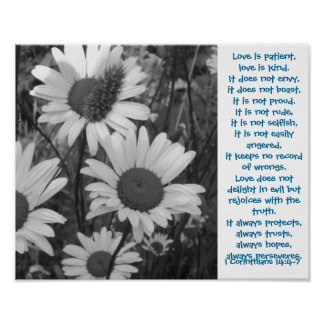 Wild Daisies Love Poster
