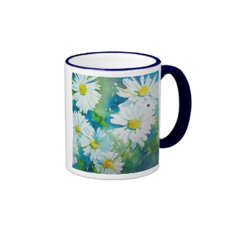 Wild Daisies Ringer Mug