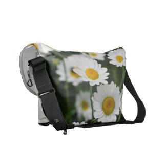 Wild daisy flowers close up messenger bag