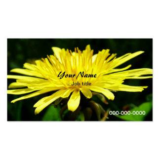 wild dandelion flowers business card template