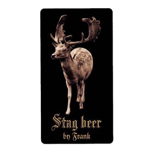 Wild Deer Buck Beer Label Zazzle