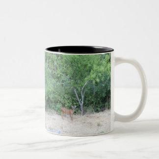 Wild Deer forest Two-Tone Coffee Mug