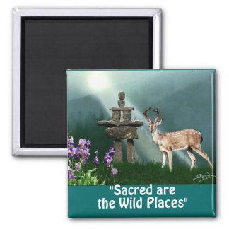 Wild Deer & Inukshuk Wilderness Gift Magnets