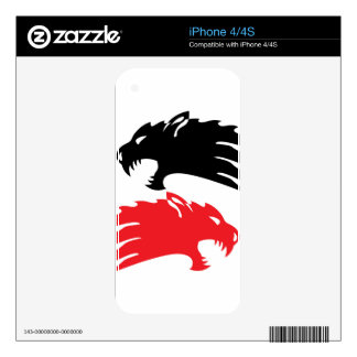 Wild Demon iPhone 4S Skins