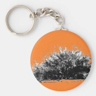 Wild Desert Shrub with Orange Keychain