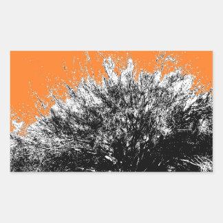 Wild Desert Shrub with Orange Rectangular Sticker