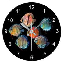 Wild Discus fish Large Clock