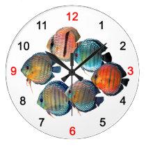 Wild Discusfish Large Clock