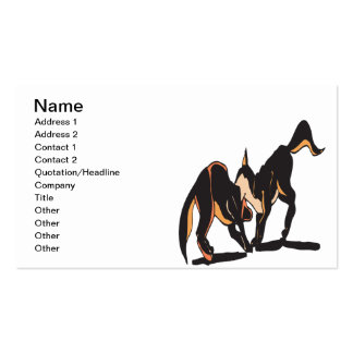 Wild Dog Double-Sided Standard Business Cards (Pack Of 100)
