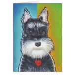 Wild Dog  Schnauzer Greeting Card