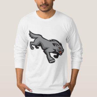 Wild Dog Wolf Stalking Retro T-Shirt