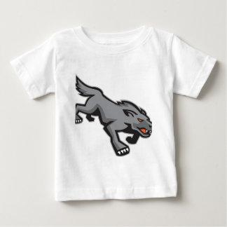 Wild Dog Wolf Stalking Retro T Shirt
