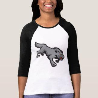 Wild Dog Wolf Stalking Retro Tshirt