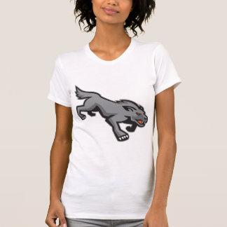 Wild Dog Wolf Stalking Retro T-shirts