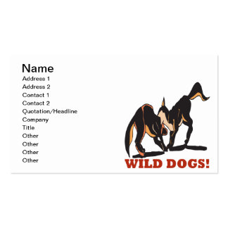 Wild Dogs Double-Sided Standard Business Cards (Pack Of 100)