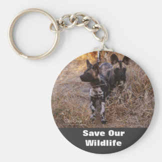 Wild Dogs Save Our Wildlife Key Chain