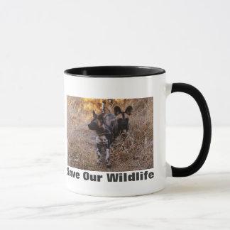 Wild Dogs Save Our Wildlife Mug