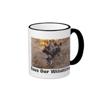 Wild Dogs Save Our Wildlife Ringer Mug