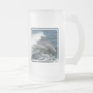 Wild Dolphin Frosted Beer Mug