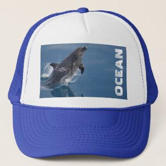 Wild dolphin trucker hat