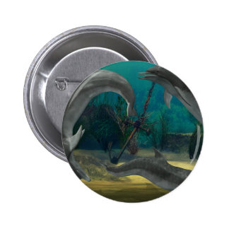 Wild Dolphins Pinback Buttons