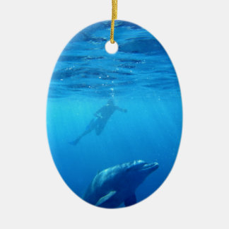 Wild Dolphins Ceramic Ornament