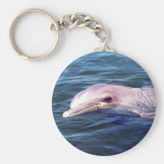 Wild Dophin Basic Round Button Keychain