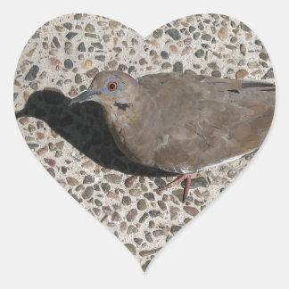 Wild Dove Heart Sticker