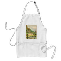 Wild Duck and Ducklings Swimming on the River Adult Apron