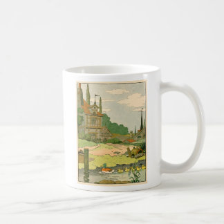 Wild Duck and Ducklings Swimming on the River Coffee Mug