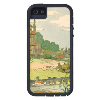 Wild Duck and Ducklings Swimming on the River Cover For iPhone 5