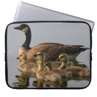 Wild duck family computer sleeve