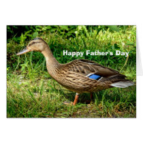 Wild Duck Father's Day Card (from son)