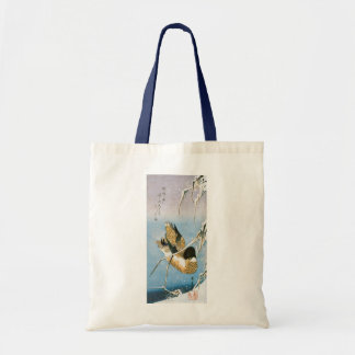 Wild Duck Swimming Snow Laden Reeds by Hiroshige Tote Bag