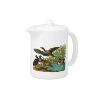 Wild Ducks at the Pond Teapot