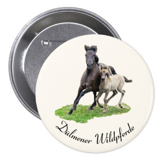 Wild Dülmener Horse Mare Cute Foal Gallop - text Button