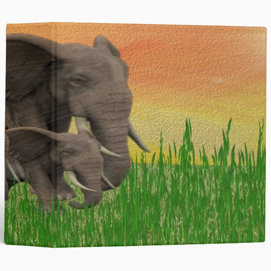 WILD ELEPHANT AVERY BINDER